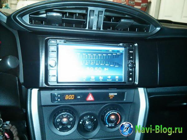 Пример установки автомагнитолы Ca Fi DL695800 0007 Toyota Universal на Toyota FT 86  