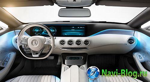 Garmin предложил GPS навигацию с городскими 3D моделями в концепт каре Mercedes Benz | навигатор Mercedes Benz gps навигатор Garmin K2 garmin Daimler