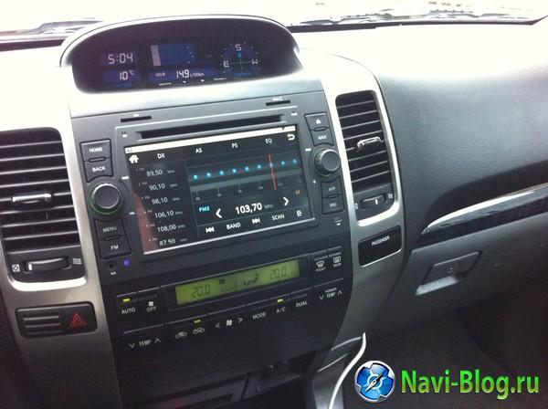 Установка ГУ Ca Fi на Андроиде в 120й Toyota Prado и камеры заднего и переднего вида |