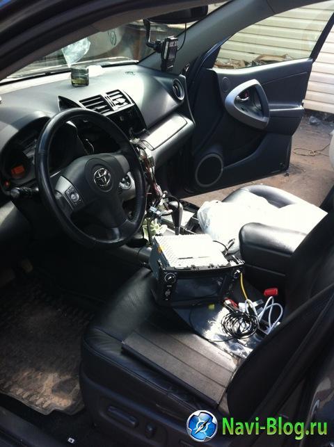 Пример установки Android автомагнитолы Ca Fi на Toyota RAV4 |