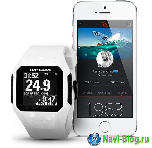 Умные часы   Rip Curl представила первые в мире серф часы со встроенной GPS системой   часы с GPS умные часы программа навигации навигационная система Навигационная программа навигационная GPS платформа Rip Curl GPS часы GPS устройства GPS навигация gps навигатор