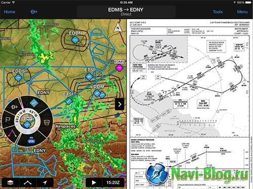 Приложение Garmin Pilot обзавелось картой всего мира |