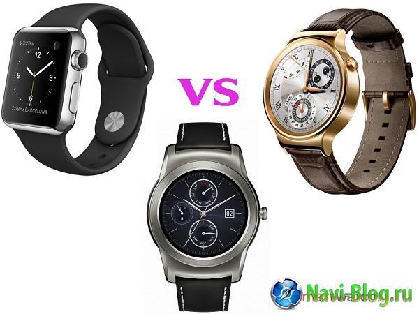 Сравнение Apple Watch, Huawei Watch и LG Watch Urbane |