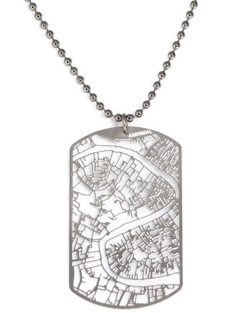 Украшения в форме GPS карты городов  