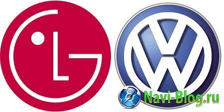 LG и Volkswagen объединились для создания сетевой автомобильной платформы | Штатное головное устройство штатная автомагнитола Головное устройство автомобильная платформа Автомагнитола VW LG