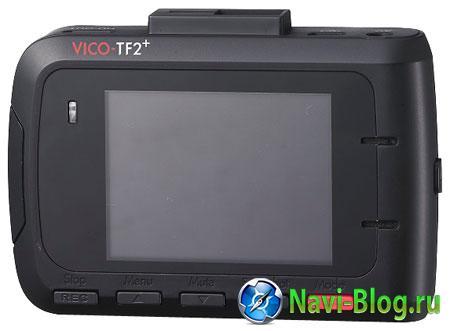 Тыльная сторона автомобильного видеорегистратора Vico-TF2+ Premium.