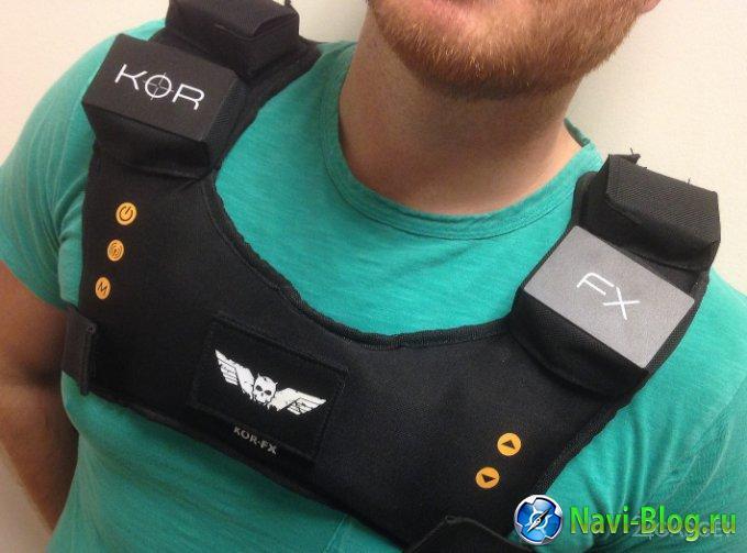 KOR-FX - жилет с обратной тактильной связью для геймеров (4 фото)